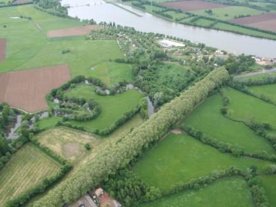 La Chalaronne avant sa confluence avec la Saône